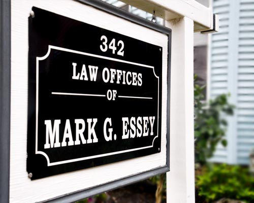 Law Offices of Mark G. Essey Exterior Sign